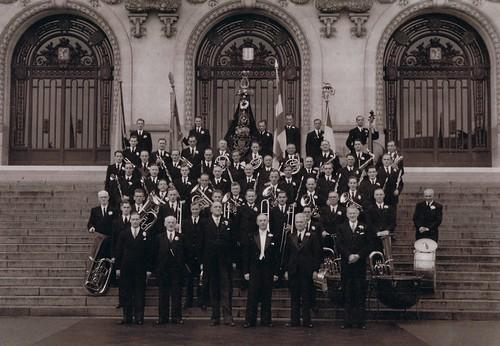 Harmonie Orpheus tijdens de UNESCO wedstrijd, Vichy (F) 1952
