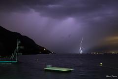 Le plongeoir électrique (MarKus Fotos) Tags: storm orage orages sturm thunder thunderstorm thunderstrike foudre f4 suisse switzerland strike landscape léman leman lac lake lightning lausanne lavaux lights evian vaud