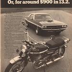 1970 Suzuki T-500 III Titan Motorcycle Advertisement Hot Rod Magazine May 1970 thumbnail