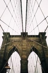 Brooklyn Analog (7thound) Tags: cables bridge urban coty vacation travel kodakektar kodakfilm kodak scan scanned analogue analog film manhattan newyorkcity nyc brooklynbridge brooklyn