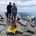Zuly and Ingrid and Bella at the summit (10,785 ft)