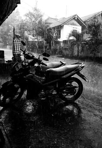 Raining in Ubud Bali