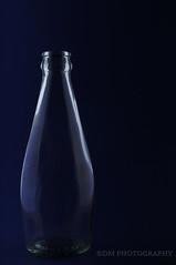 Blue 2 (BluAlien) Tags: nikon d300 50mm glass bottle studiolight studiostrobe monolight lowkey