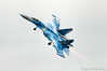 Flanker: wheels down, afterburners on (DrAnthony88) Tags: danglingitsdunlops modernmilitary nikkor200400f4gvrii nikond810 riat2017 royalinternationalairtattoo2017 sukhoisu27psingleseatfighterflankerb ukraineaf831guardstacticalaviationbrigade ukrainianairforce aircraft afterburner reheat