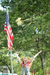 fourth 071 (noreenfrances) Tags: beekman beekmanstreet artsfair saratoga saratogasprings liz lizolson jonathan terrence america fourthofjuly usa upstate upstateny new york flag portrait canon canont3 uncommongrounds clowns circus corn
