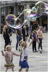 Bubble Fun (Luc V. de Zeeuw) Tags: blow boy bubbles children fun lucvdezeeuw playing bergen hordaland norway