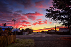 Morning light (Kevin_Jeffries) Tags: sky pink morning light nikon nikkor kevinjeffries urban street newzealand flickr landscape clouds sunrise outside south southisland d7100 red nature frosty winter new house 7dwf