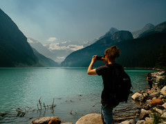 Lake Louise-38 (Garen M.) Tags: banff canada canadianrockies glaciers lakelouise olympusomdem1 zuikopro1440mmf28 mountains