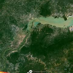 Parte do Reservatório de Sobradinho (barragem / dam), no Rio São Francisco, Remanso/BA (outra imagem 5) (Coordenação-Geral de Observação da Terra/INPE ) Tags: sobradinho riosãofrancisco remanso bahia brasil brazil cbers4 mux inpe
