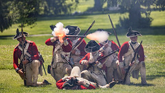 The Battle of Short Hills (gimmeocean) Tags: thebattleofshorthills battleofshorthills shorthills scotchplains newjersey nj reenactment musket redcoats rifle musketfiring americanrevolution reenactors oakridgepark