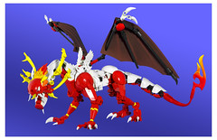 Royal Crested Dragon (dviddy) Tags: lego dragon bionicle herofactory ccbs constractionfigure constraction moc mocs legomocs blue dviddy deevee bzp bzpower brickfair