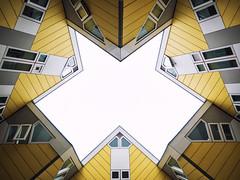 Cube Houses (Kubuswoningen) - Rotterdam (Simon Hubbert) Tags: rotterdam photography cube house architecture panasonic g80 g85 lines symmetry angle space light sky europe netherlands 2017 angles windows grid guides guide kubuswoningen