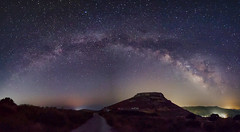 Galactic Arc (n.pantazis) Tags: milkyway panorama panoramic stitch stitched stars astrophotography hill road peak andros cyclades island lights glow pentaxks2 astrotracer ogps1