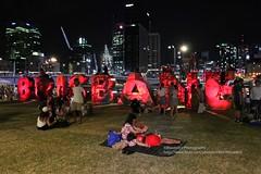 Brisbane, 1st January 2017 (blauepics) Tags: australia australien queensland qld brisbane city stadt fireworks feuerwerk neujahr new year party red rot illuminated beleuchtet symbol people leute