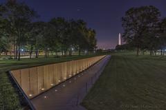 Vietnam Veteran's Memorial (D. Scott McLeod) Tags: vietnamveteransmemorial thewall dawn night washingtondc dc nationalmall veterans vietnamwar names mia healing sacred thankyou mayayinglin dscottmcleod scottmcleod