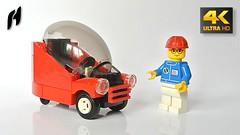 Lego Bubble Car (MOC - 4K) (hajdekr) Tags: lego toy vehicle car automobile buildingblocks brickstoy moc myowncreation bubblecar bubble microcar micro small easy mini tip inspiration tips wheels wheel