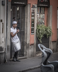 Daydreamer (Henka69) Tags: smoking break pause milano streetphoto streetcolour street candid