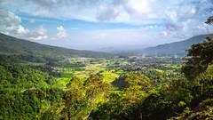 The Imposing Low Face of Malalak (fibonaccist) Tags: malalak westsumatra indonesia horizon mobilephotography sky clouds hills mountain singgalang green blue sea valley