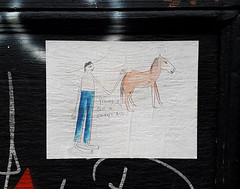Young Jim pets his donkey's ass (Exile on Ontario St) Tags: young jim pets his donkey donkeys ass drawing dessin illustration funny cute amusing drôle âne tim mile end montreal paste pasteup streetart urban street art wheatpaste urbain wheat mileend montréal ruelle ruelles alley alleys alleyway alleyways