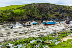 Dry dock at Port Isaac. (Geordie_Snapper) Tags: canon5d3 canon2470mm cornwall june overcast portisaacportwen summer