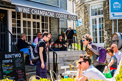 A strange mixture, Wine, Champagne, Coffee and Food (Geordie_Snapper) Tags: canon5d3 canon70200mmf4islusm canon2470mm cornwall june padstow summer