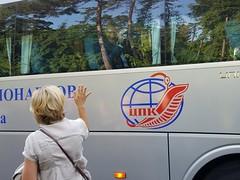 Astronaut Paolo Nespoli Waves to Wife (NASA Johnson) Tags: russia kazakhstan astronaut cosmonaut roscosmos europeanspaceagency nasa esa russianfederalspaceagency