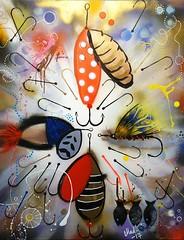 "Painting ""Hooked"" 2017 (MadArt70) Tags: magnus dacke 2017 madart art painting lure fishing colors acrylic canvas hooked gold silver bronze konst tavla drag fiska färger akryl duk krokad guld brons done finished"