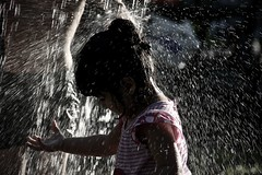 Water all over (The Resurgent Anthropologist) Tags: playingwithwater montreality montrealinpictures kidsinthepark kidsplaying kidswater summer havingfun ilovemontreal ilovewater littlegirl underwater waterallover watereverywhere