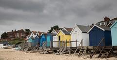 Beach huts on a grey day (clairehalas) Tags: greyskies beachhuts