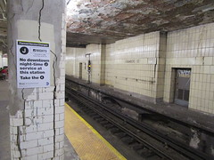 NYC Subway, 07/18/17: the Chambers Street station on the J line will not have any downtown night service (10.45pm - 5.00am) for the next threenights (IMG_5411) (Gary Dunaier) Tags: mta metropolitantransportationauthority trains publictrasportation transportation commuting commuters nyc newyorkcity