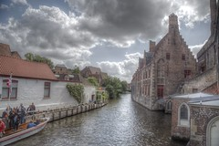 Back in time (blavandmaster) Tags: sky perfect 6d kleuren hemel wolken vand brugge 24105 landscape zonsondergang colours boot harmonic river building beautiful incredible city countryside bateau sonnenuntergang wasser photomatix rich hill belgium summer handheld canon hdr ciel boat belgique nuages water interesting belgien sommer juli awesome eau processing architektur rivière light architecture christiankortum landschaft flus himmel july clouds belgie sunset cityscape ferrytale coucherdesoleil complete eos6d