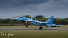 """ Ukrainian Muscle "" (simonjohnsonphotography.uk) Tags: ukrainianairforce nikonaviation riat2107 aircraft nikon aviation riat jet simonjohnsonphotography airshow su27flanker sukhoi panning"