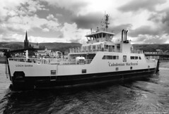 Scotland west coast car ferry Loch Shira docking at Largs 16 July 2017 by Anne MacKay (Anne MacKay images of interest & wonder) Tags: scotland west coast caledonian macbrayne car ferry loch shira largs town slipway monochrome blackandwhite xs1 16 july 2017 picture by anne mackay