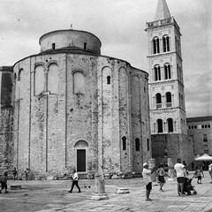 St.Donatus_Zadar (Koprek) Tags: yashica mat 124g fomapan 200 green filter zadar croatia stdonatus june 2017 film streetphotography