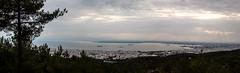 Thessaloniki (Harrygrl) Tags: trees city clouds sky sun forest sea