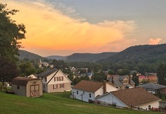 Peaceful Valley View (chuck_hickory) Tags: sun overlook pretty peaceful landscape outside outdoors town overview sunset light sky home house trees grass valley pa cambria city