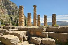 6 columns (Delphi, Greece) (armxesde) Tags: pentax ricoh k3 greece griechenland delphi ruins ruinen tempel temple säule column parnassos berg mountain