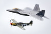 Lockheed Martin F-22 Raptor and P-51 Mustang Heritage Flight performing at Fairford International Air Tattoo 2017 (Anthony Hunt) Tags: qra nato conflict interceptor raptor f22 martin lockheed fighter superiority fairford internationalairtattoo 2017 display aerobatic usaf military strike raf jet usairforce rapter stealth bomber airplane aeroplane aircraft united states america air force afganistan gulf iraq war warplane plane cold soviet intercepter combat warmachine taliban middleeast middle east quickreactionalert p51 mustang heritage
