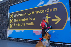My beauty and the beast in our favourite City (ahwou) Tags: amsterdam dog shermansheperd diny