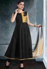 Black Raw Silk Anarkali Suit (nikvikonline) Tags: blac black blackcolor net kamiz blacksuit blacksalwar kameez kameezonline designer designersalwar shalwarkameez stylish suit salwarkameez salwar shalwar stylishsuits salwarsuit designercollection