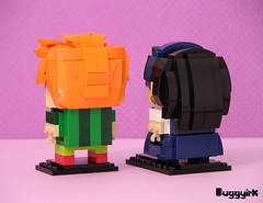 Drop Dead Fred & Snot Face Brickheadz back (buggyirk) Tags: bricksetbrickheadzcompetition brickset lego brickheadz moc afol drop dead fred snot face retro nostalgia phoebe cates rik mayall elizabeth lizzie cronin movie imaginary friend competition