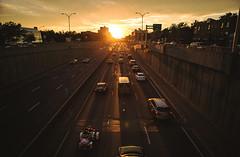 Sun lines (Frédéric T. Leblanc) Tags: sunset montréal mtl montreal quebec canada light sun set sky clouds city cars highway cinema cinematic filmlook movielook scene urban street orange warm canon 5d mk3 mark3 markiii mkiii metropole 15 teen teenager amateur