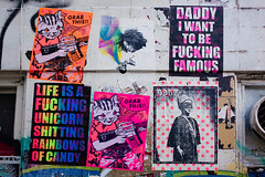 Random Wisdom (Florian Bütow) Tags: city color street old urban design culture symbol art wall illustration text artistic graffiti sign spray 40mm mural vandalism bill