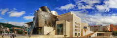 Panorámica del Museo Guggenheim, en Bilbao (FJcuenca) Tags: bilbao museoguggenheim panasoniclumixdmcg6h spain vizcaya espagna españa fjcuenca ria vario14140 bilbo euskadi es