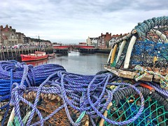 Whitby (juliavhill) Tags: whitbyharbour riveresk coast northyorkshire yorkshire whitby quay harbour fishingport fishing crabpots