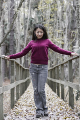 Purple in Woods (Chris-Creations) Tags: mei 20050101058 portrait people pretty chinese asian woman lady petite girl feminine femme fille attractive sweet cute beauty lovely amateur wife gorgeous beautiful glamour mujer niña esposa женщина 女孩 女人 性感 妻子 vacation