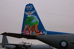 Pakistan Air Force (Tony Howsham) Tags: canon eos70d sigma 18250 os riat 2017 raffairford royal international air tattoo airshow aviation special tail pakistan c130e hercules lockheed martin 21 squadron