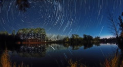 Clarence Town Trails. (williams.darrell53) Tags: landscape night long exposure water river reflection sky star trail tree canon australia samyang starstax darrell williams