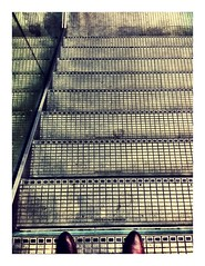 Stepping out (theaspiringphotographer) Tags: iphone camera london station stpancras steps