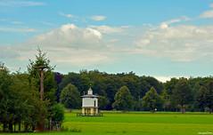 Dutch Landscape On - Explore (JaapCom) Tags: jaapcom landscape landschaft wezep ijsselvliedt trees clouds pigeon coop holland dutch igholland natural nature